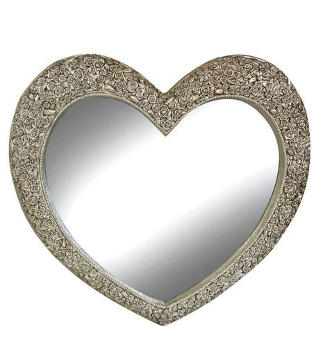 Heart wall Mirror Champagne