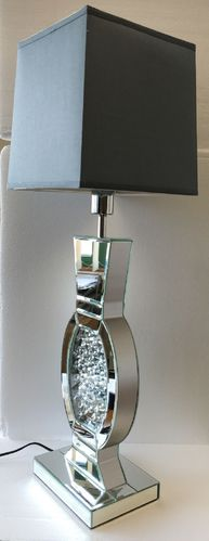 Elegant-Mirrored-Crystal-Decor-Table-Lamp-with-grey-shade-