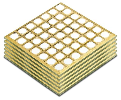 Mosaic Glass Coasters Yellow ( Set of 6)