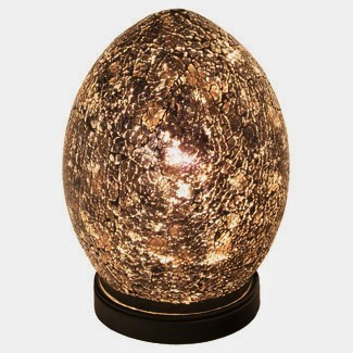 Black Mini Mosaic Glass Egg Lamp