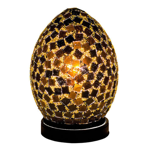 BlackTile Mini Mosaic Glass Egg Lamp