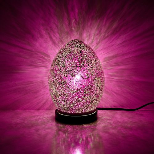 Pink Mini Mosaic Egg Lamp