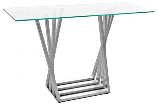 Glass Top Console Table