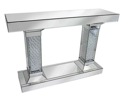 Rhombus Crystal Mirrored Console Table
