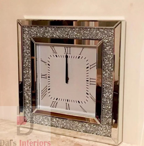 Diamond Crystal Bevelled Wall Clock